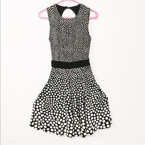 Taylor sz 6 fit flare polka dot sleeveless dress